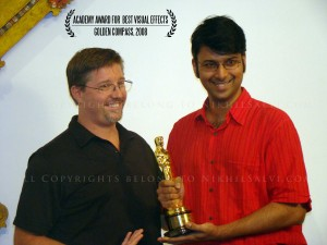 Holding the much sought after award in the world of film was an inspiring experience